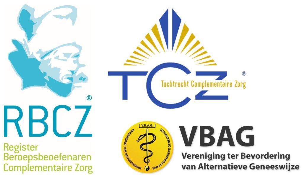 RBCZ VBAG TCZ logo's beroepsverenigingen
